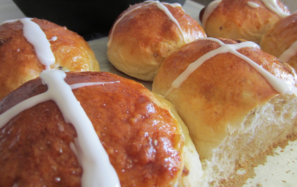 Making hot cross buns was a simple way to integrate a Christian tradition into life at home.