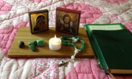 A traveling prayer altar helps me stay centered.