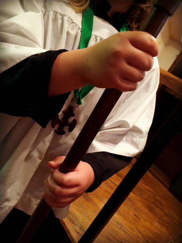 My daughter is growing into leadership – as an acolyte.