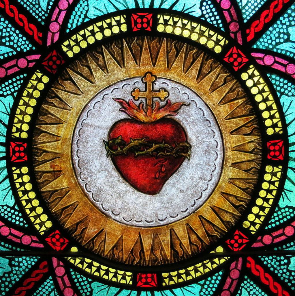 All_Saints_Catholic_Church_(St._Peters,_Missouri)_-_stained_glass,_sacristy,_Sacred_Heart_detail (1)