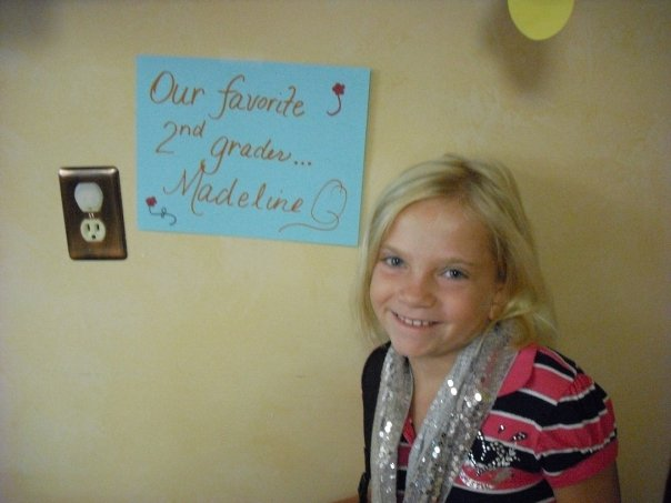 Madeline-first day sign