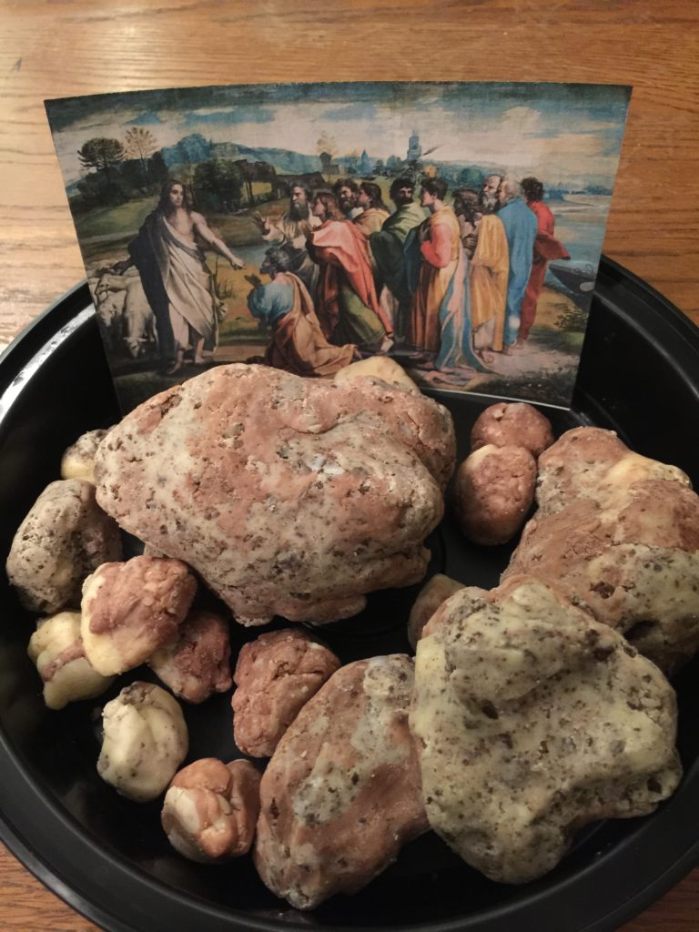 Edible Fudge Rocks for the Confession of St. Peter